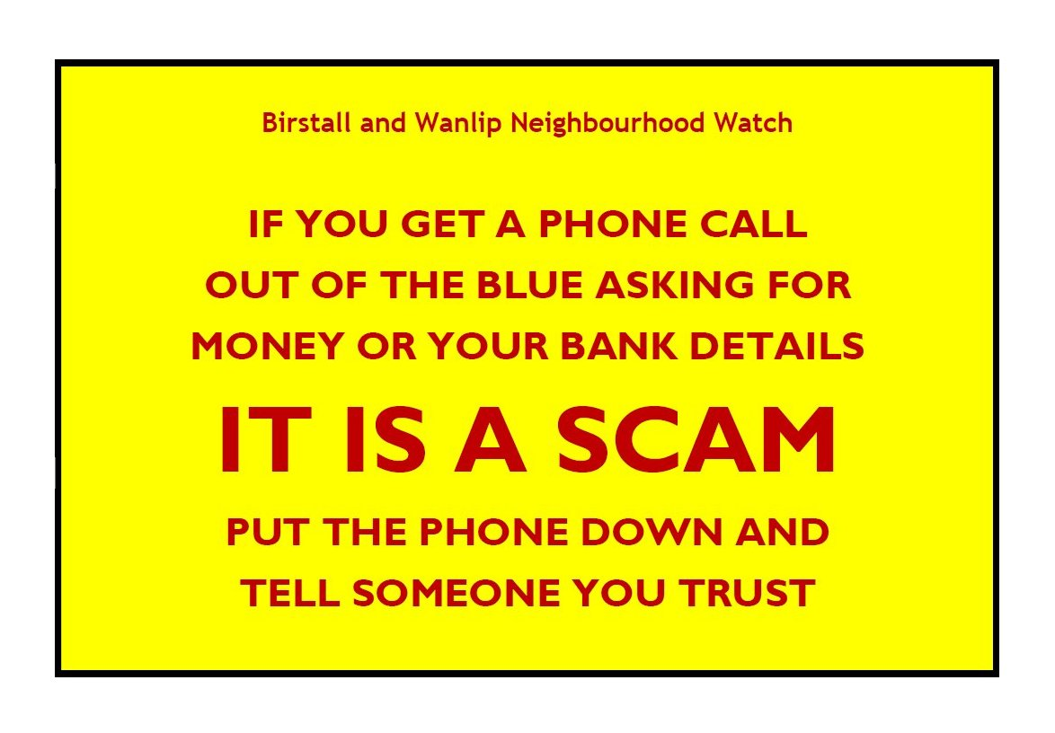 Phone Scam Warning - General