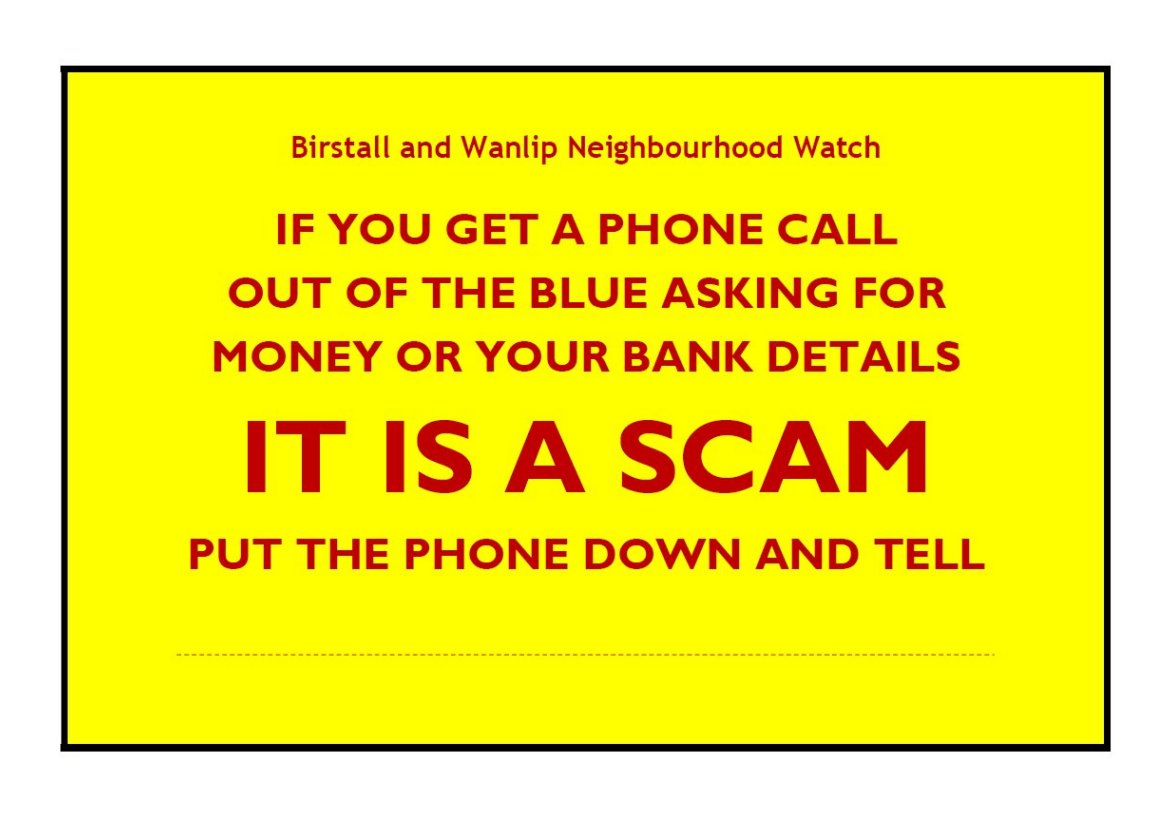 Phone Scam Warning - Personalised